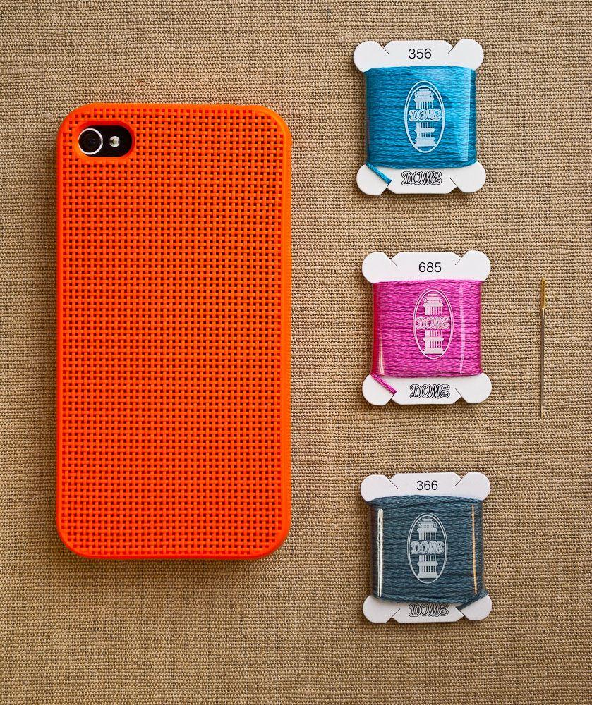 iphone 4 & 4s cross stitch case (leese design)