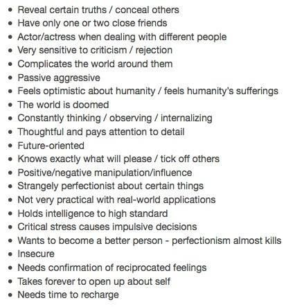 INFJ - Needs to go on my wall now. Almost a definition of self.
