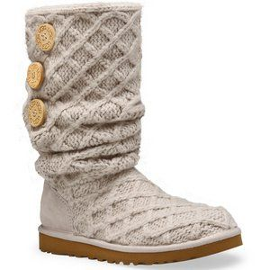 UGG Lattice Cardy Boots 3066-Charcoal, Size 9 $112.99 - $140.00