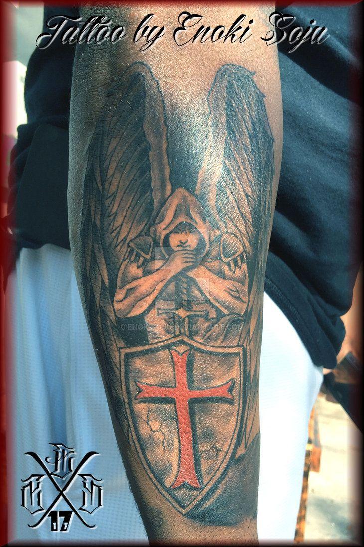 dd4165ee8 Warrior Angel Sword Shield Tattoo by Enoki Soju by enokisoju.deviantart.com  on @DeviantArt