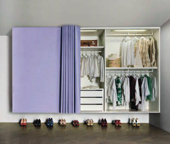 cabina armadio chiusa con tenda - Cerca con Google | Closet ...