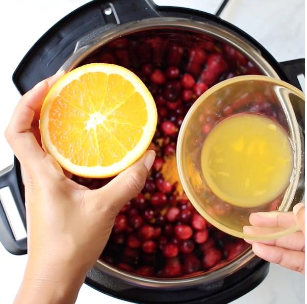 Instant Pot Cranberry Orange Sauce – cranberry sauce