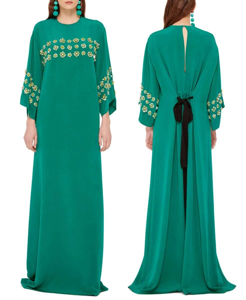 2016 Jewel Neckline Beaded Sequin Caftans Arabic Dresses Dubai ...