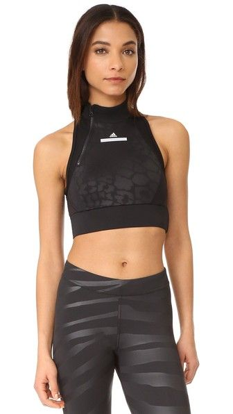 ed77508389d ADIDAS BY STELLA MCCARTNEY The Leopard Crop Top ...