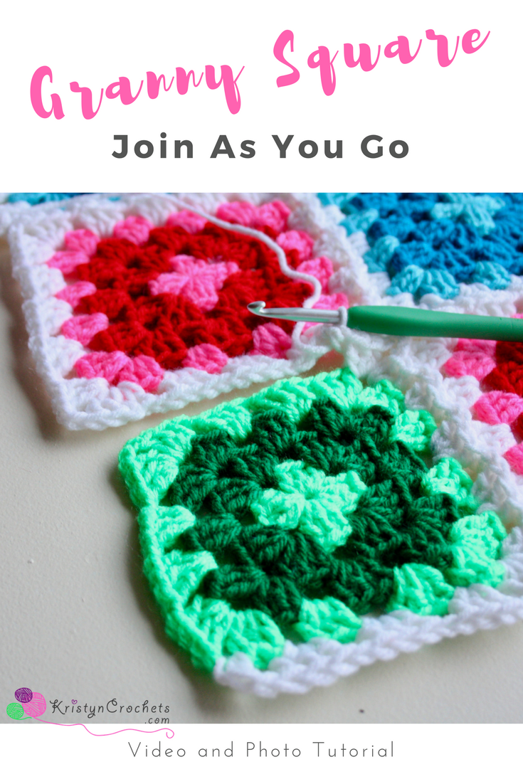 how to join crochet squares as you go