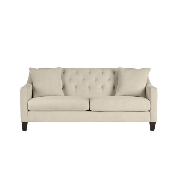 Home Decorators Collection Aldergrove Powerball Biscuit Beige Straight Standard Sofa With Tufting 79 5 In W X 34 5 In H 715a 10pb The Home Depot Home Decorators Collection Sofa Beige Sofa