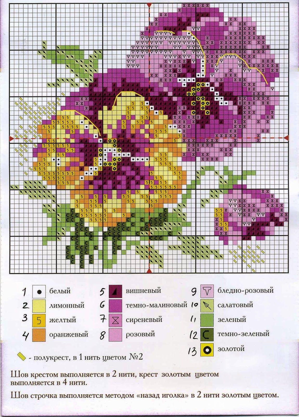 Схема большой вышивки крестом фото 982