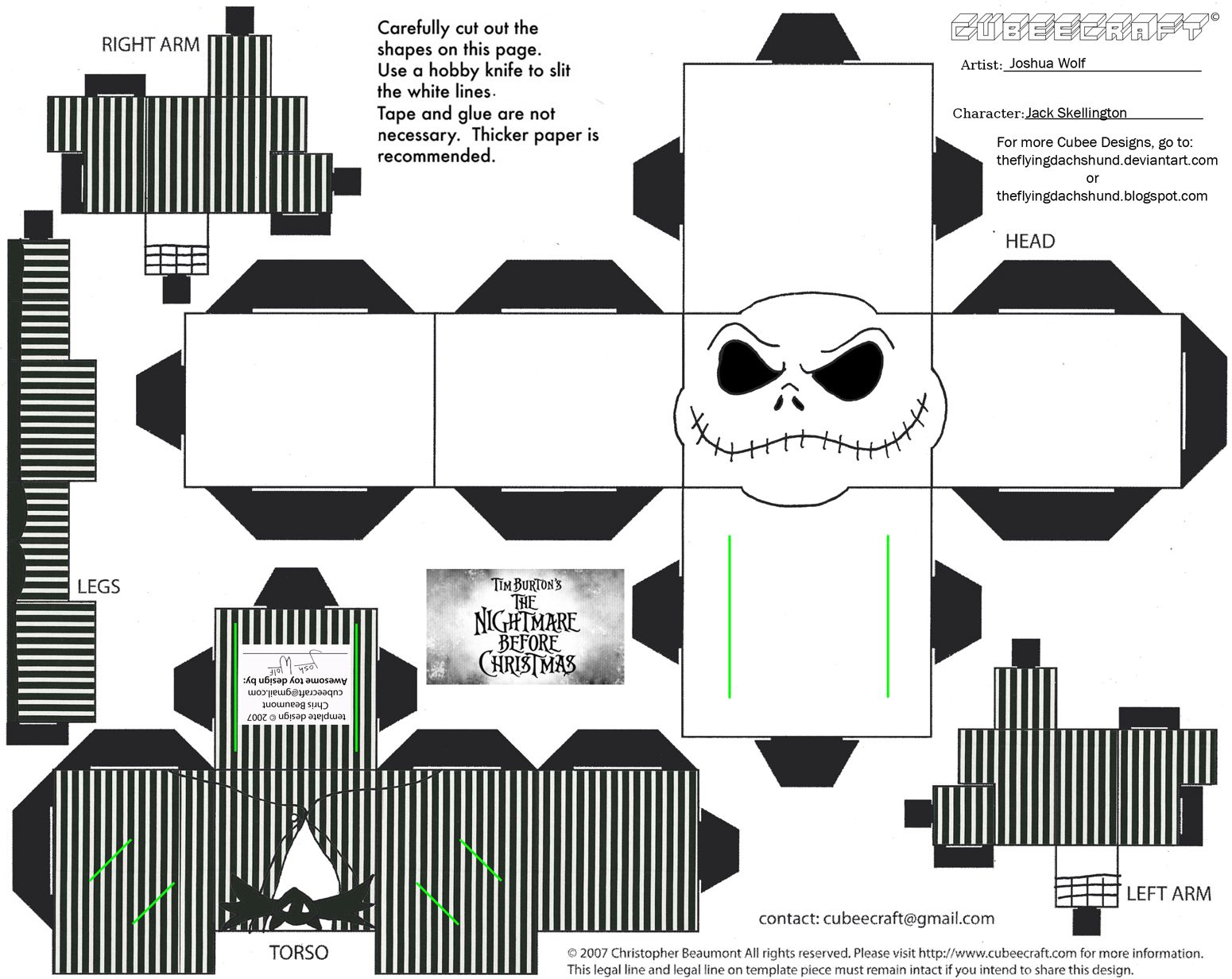 Xmas9 Jack Skellington Cubee By Theflyingdachshundviantart On Deviantart