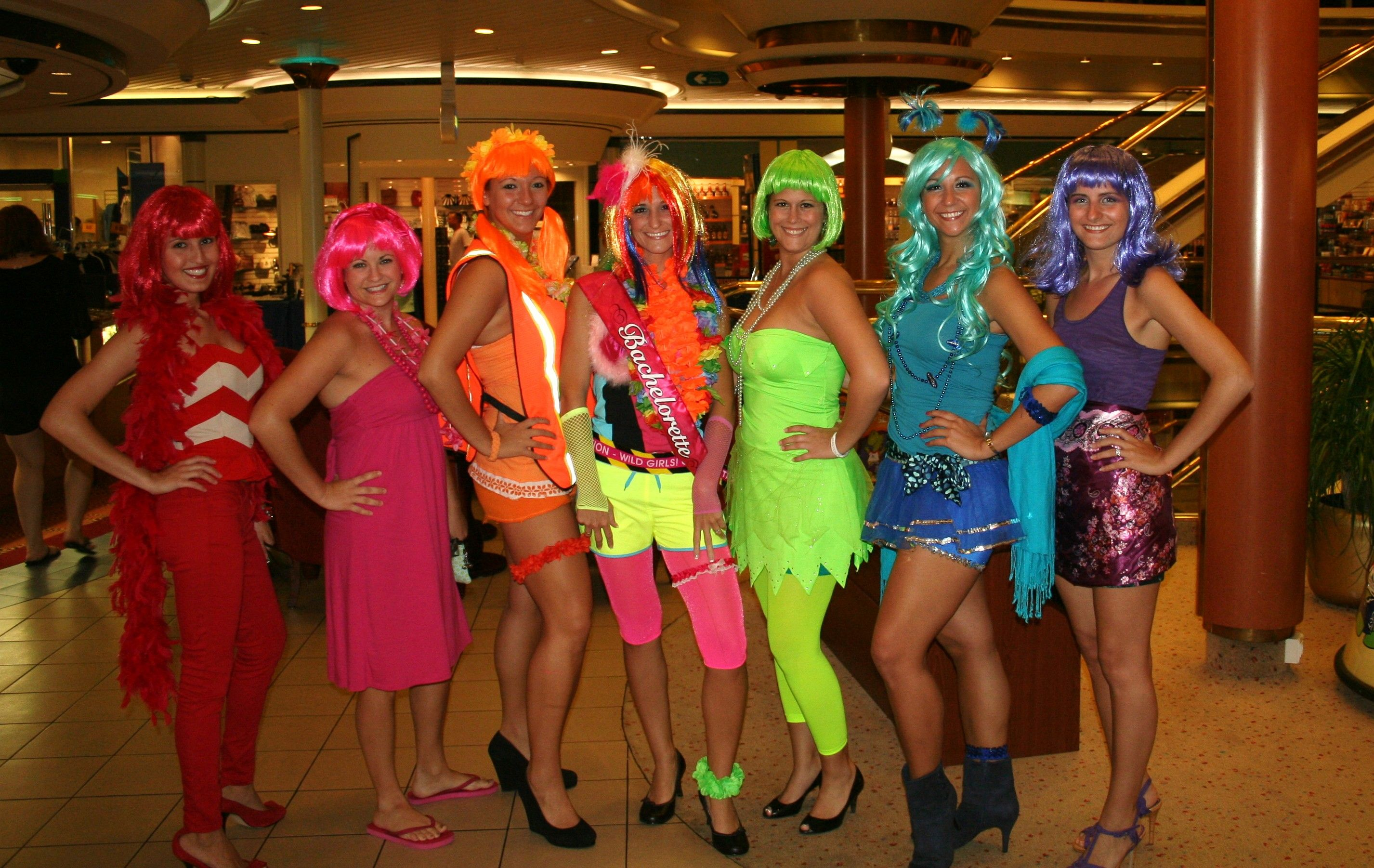 Group Fancy Dress Ideas For Hen Party: Bachelorette Party Neon Theme. Can I Request That We NOT