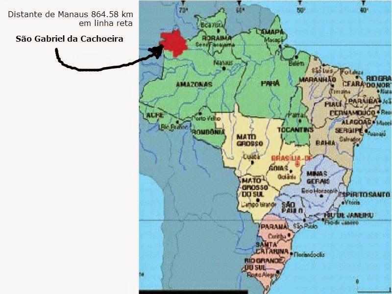 Resultado de imagem para São Gabriel da Cachoeira no mapa