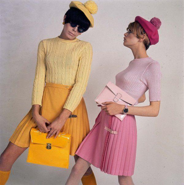 '60s mod fashions.