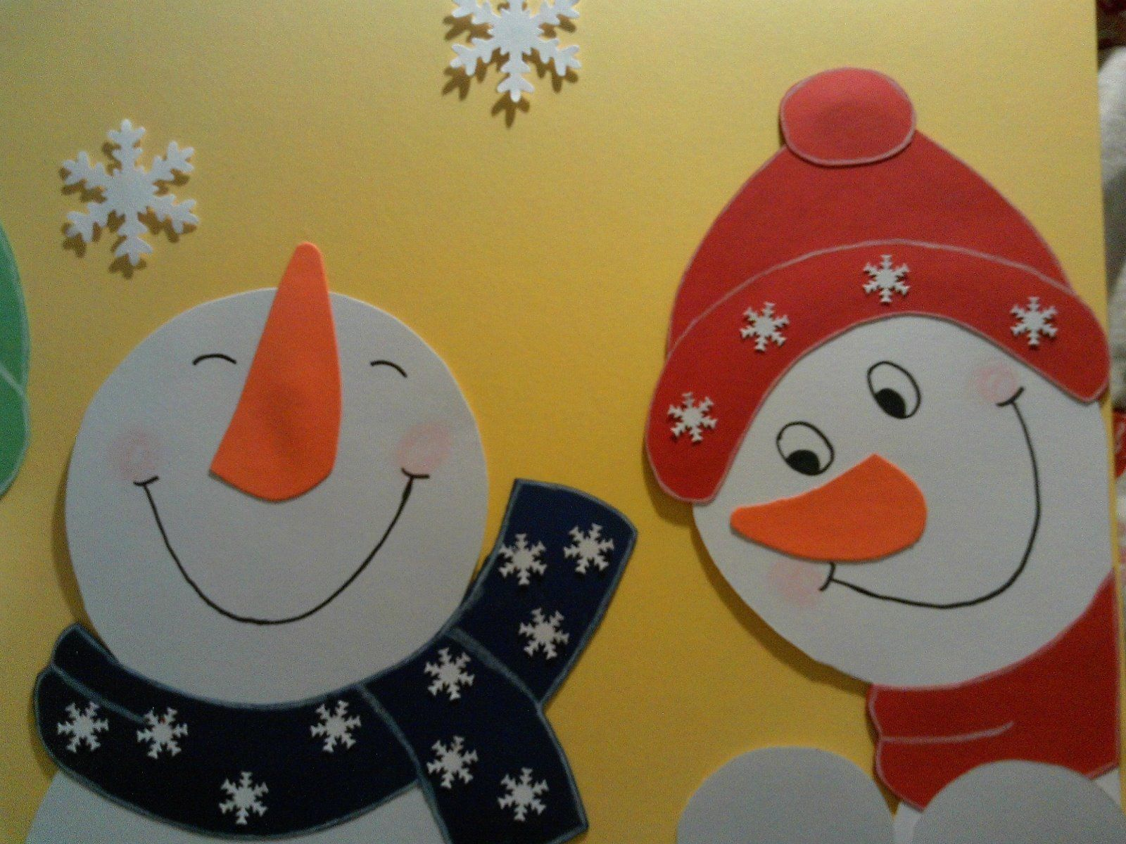 Fensterbilder Kinderzimmer ~ Fenstergucker schneemänner fensterbilder tonkarton nikolaus
