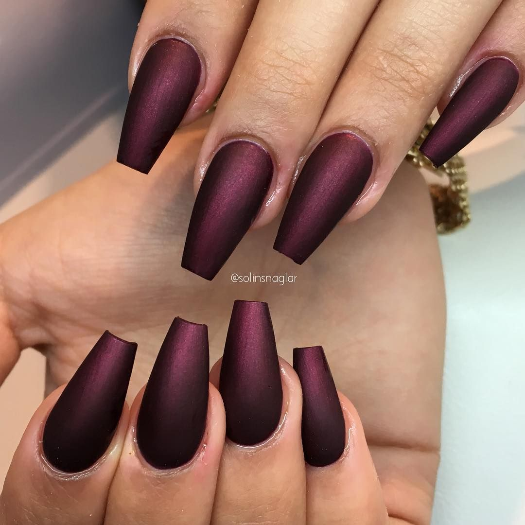 Black Cherry I Matt Fran Lillynails Burgundy Matte Nails Maroon Nails Burgundy Nails