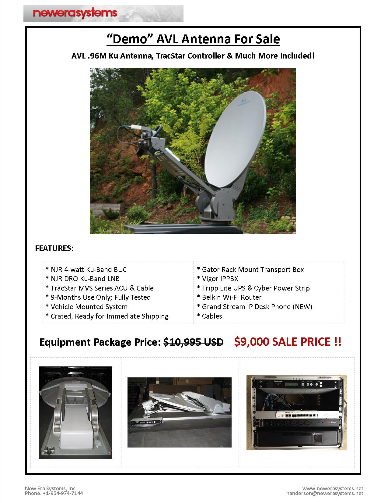AVL .96M Vehicle-Mounted SNG Antenna System ON SALE now!! *Comes ...