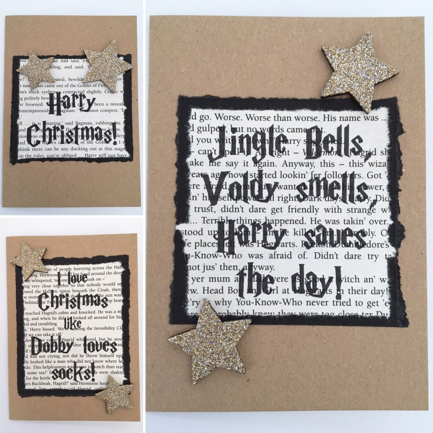 Harry Potter Christmas Card, Book Inspired Greetings Card, Various ...