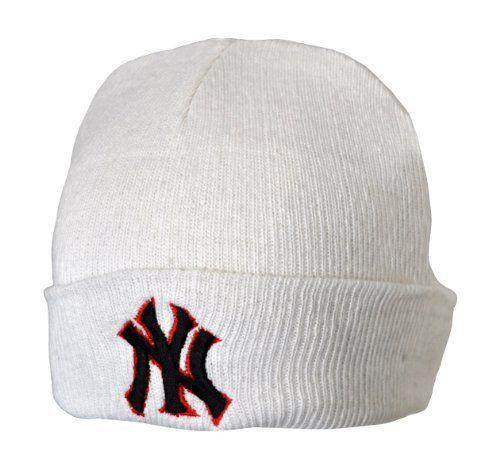 89088f4f Beanie White Ny New York Yankees Winter Ski Kids Woolly Hat by ...