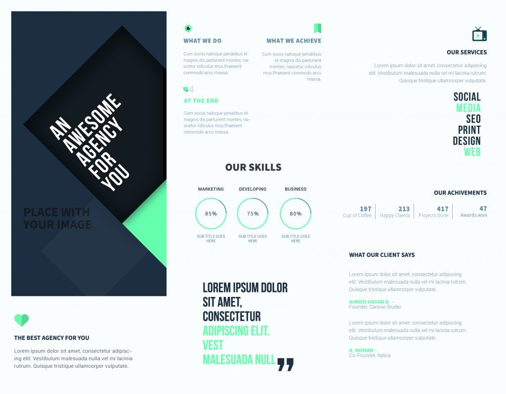 5 Free Online Brochure Templates To Create Your Own Brochure In Online Free Brochure Design Templates 2020