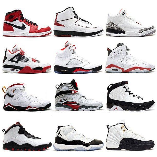 Air Jordan - 1 to 12. My favorite r the 4's in the right colors
