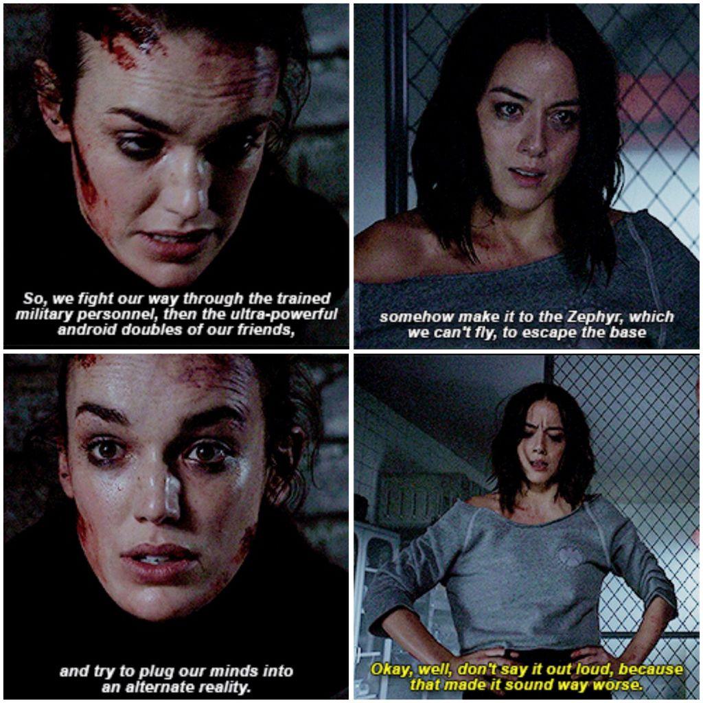 Daisy and Jemma//Agents of Shield   aos~agents of s.h.i.e ...