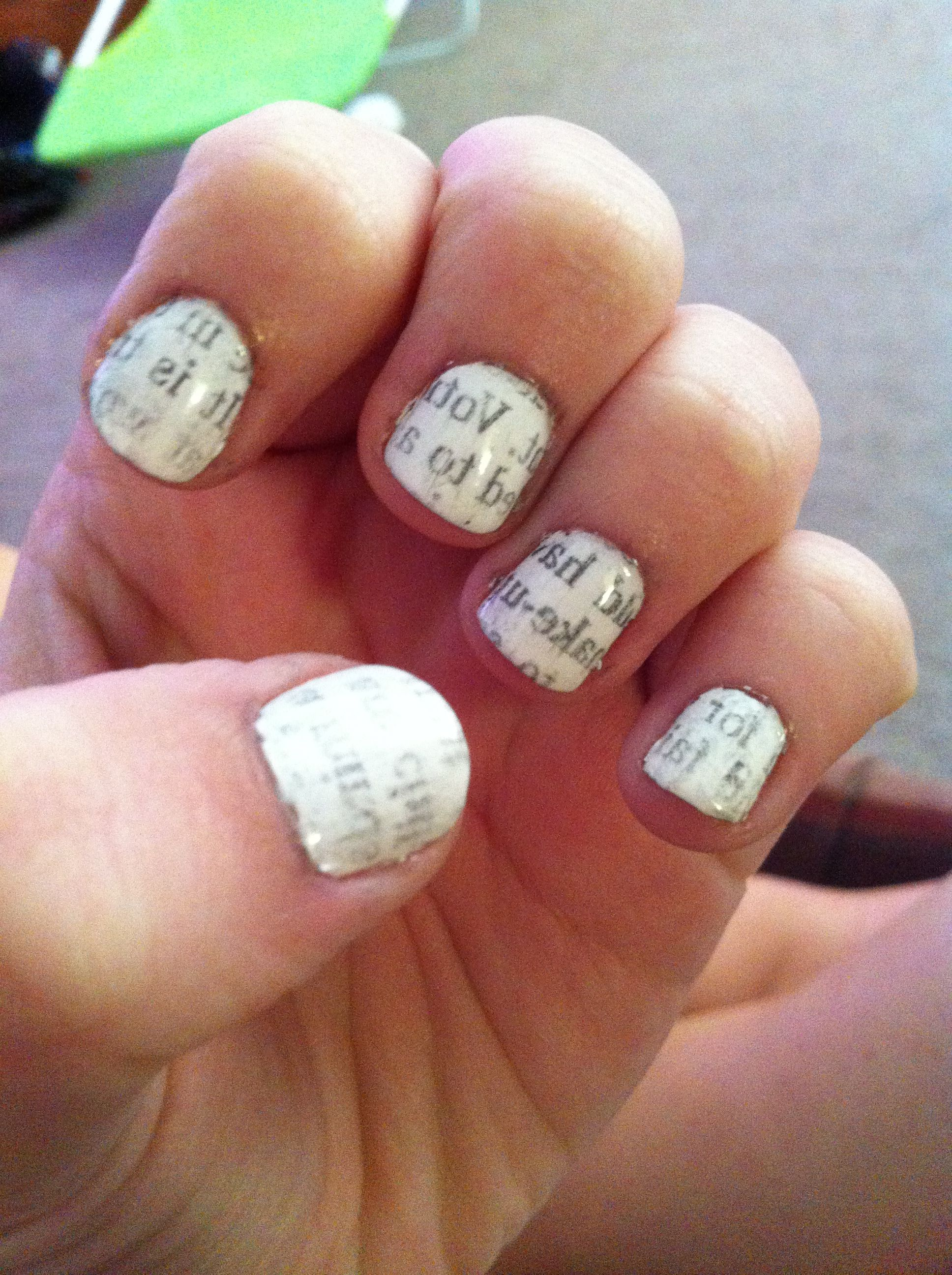 Newspaper Nails :) | Nails | Pinterest | Newspaper nails
