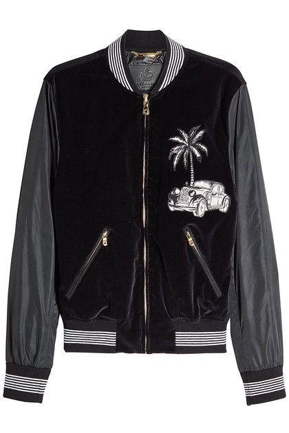 Zipped Jacket with Velvet | Dolce & Gabbana