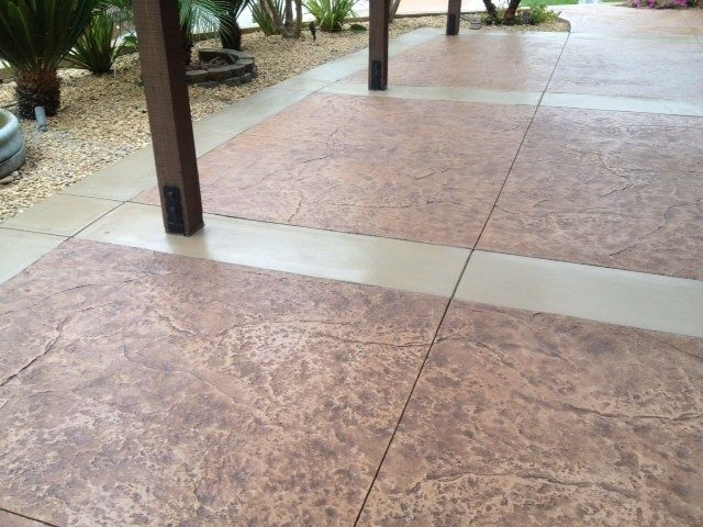Stamped Concrete, Seamless Texture Skin Stamped Concrete KB Concrete  Staining Norco, CA