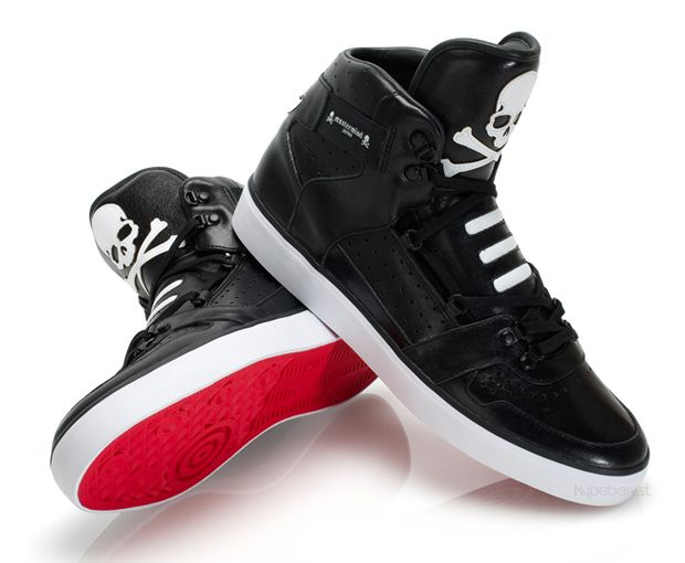 Adidas Originals Hardland CB X Mastermind Japan Black Sneakers Red on the  bottom so the blood