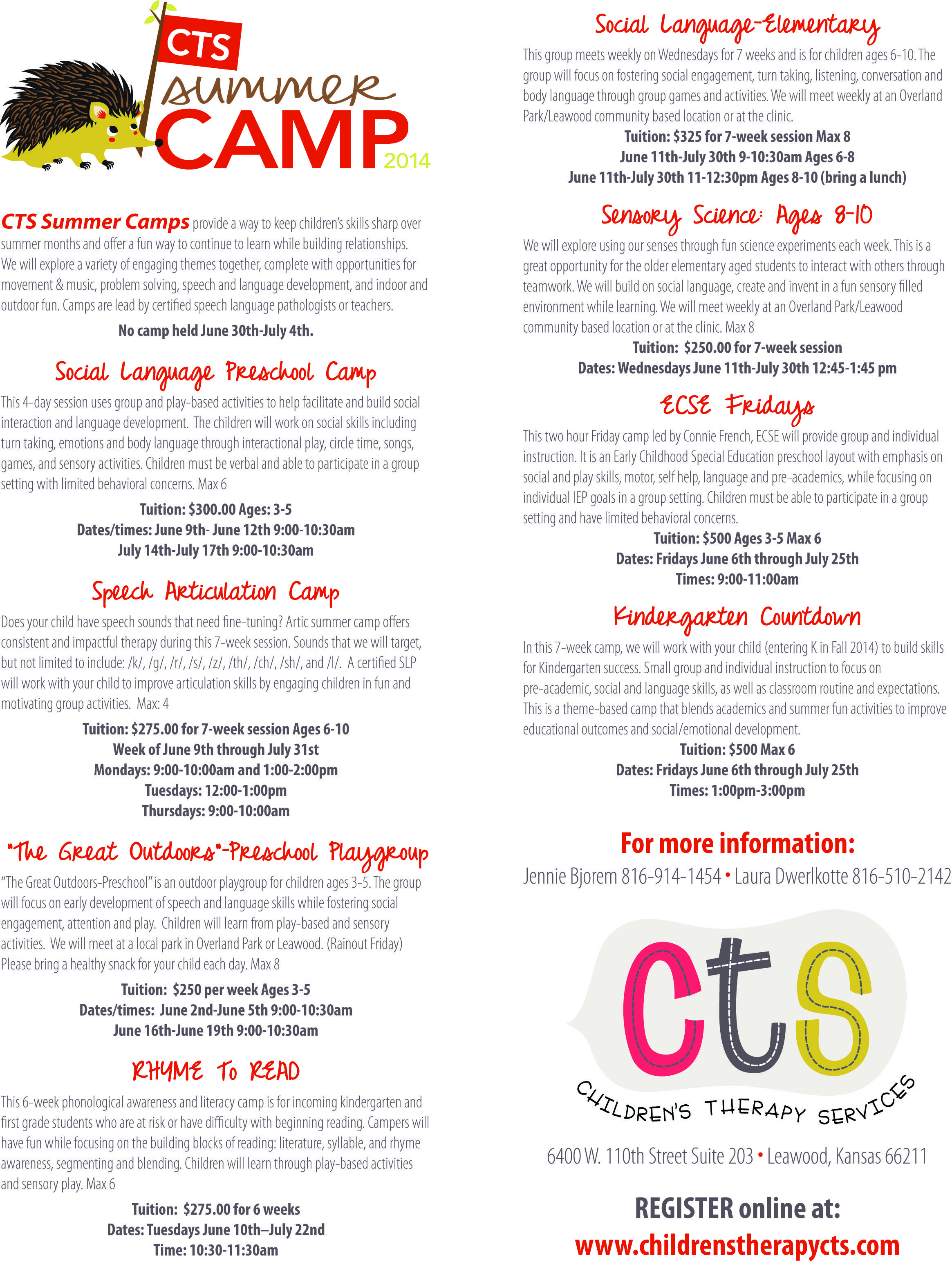 Cts Summer Camp Ildrenstherapycts