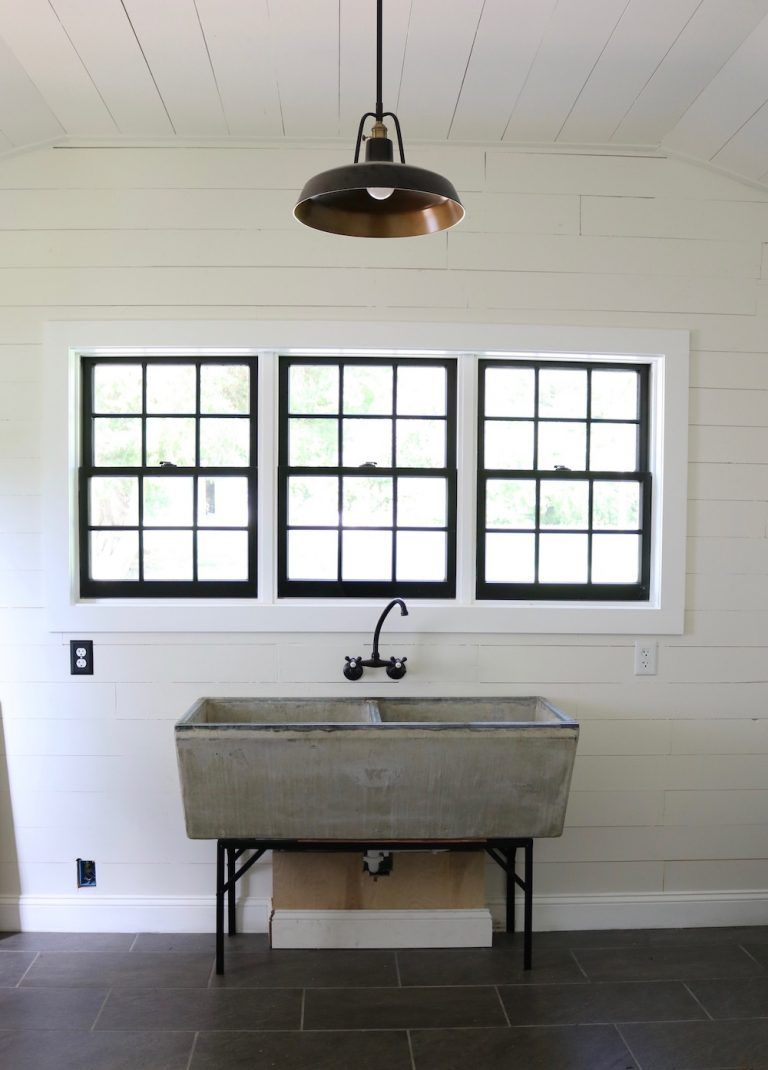 Our New Laundry Room Faucet For Our Vintage Concrete Sink Concrete Sink Home Decor Laundry Tubs