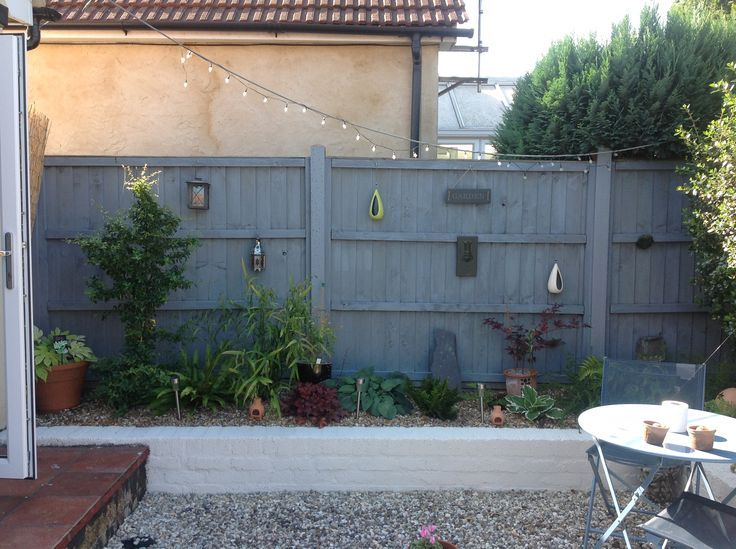 images of grey painted fence Google Search Garden ideas