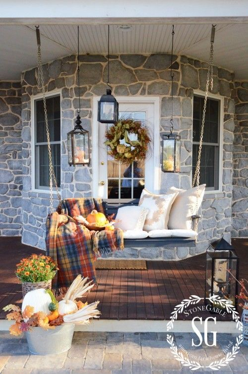 I Like This Donu0027t Let Your Fall Porch Decor Go Dim At
