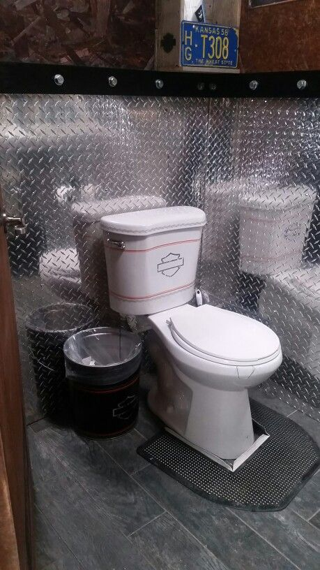Harley Davidson Toilet Man Cave