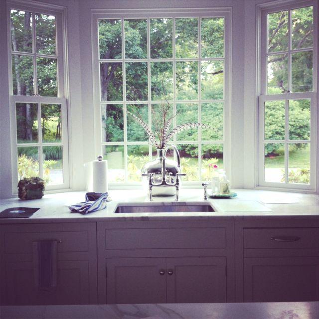 Garden Kitchen Windows Bay Window Above Kitchen Sink: Bay Window, Bridge Faucet