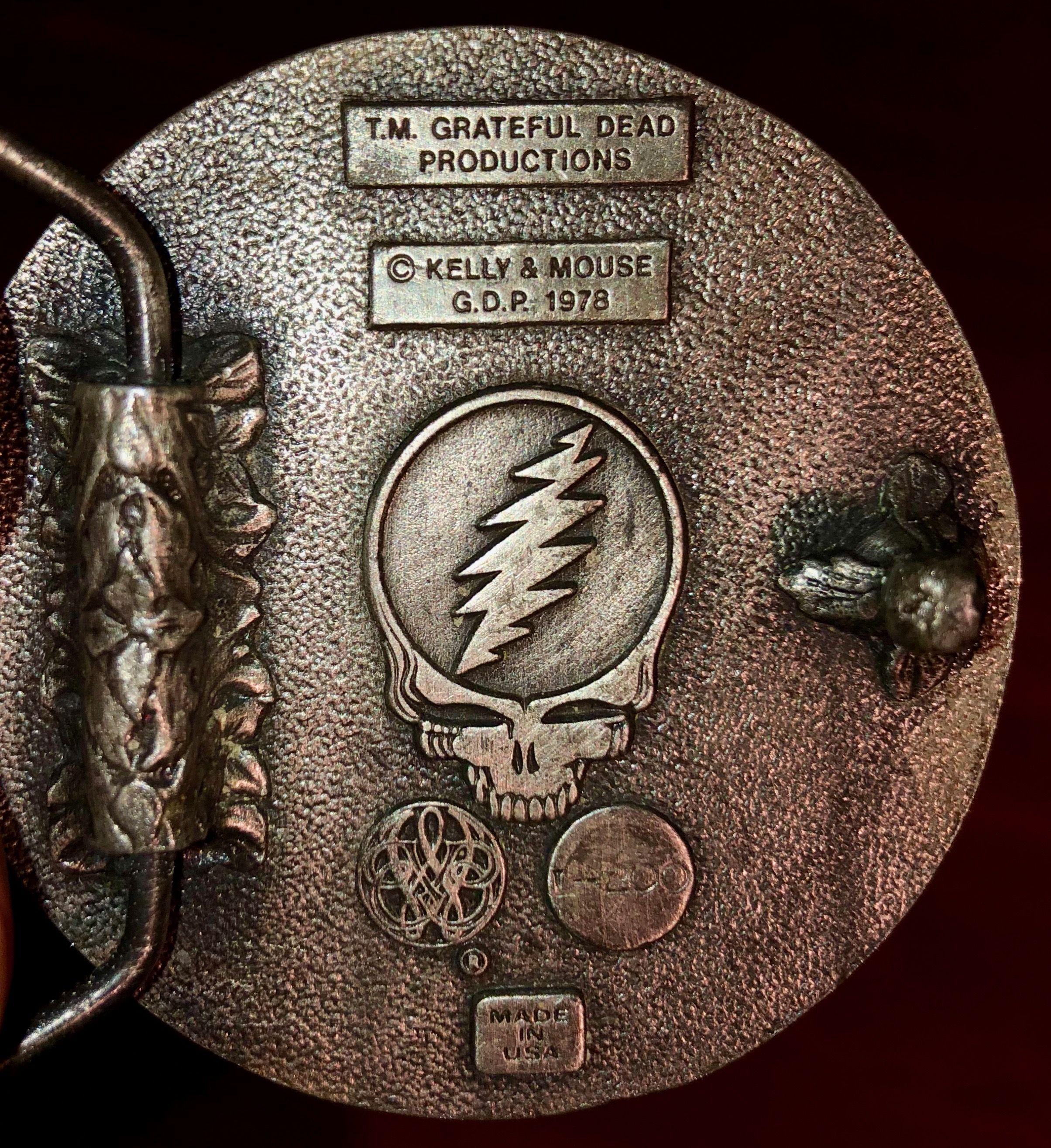 Grateful Dead Psychedelic Rock Band Lightning Bolt Collage Guitar Strap