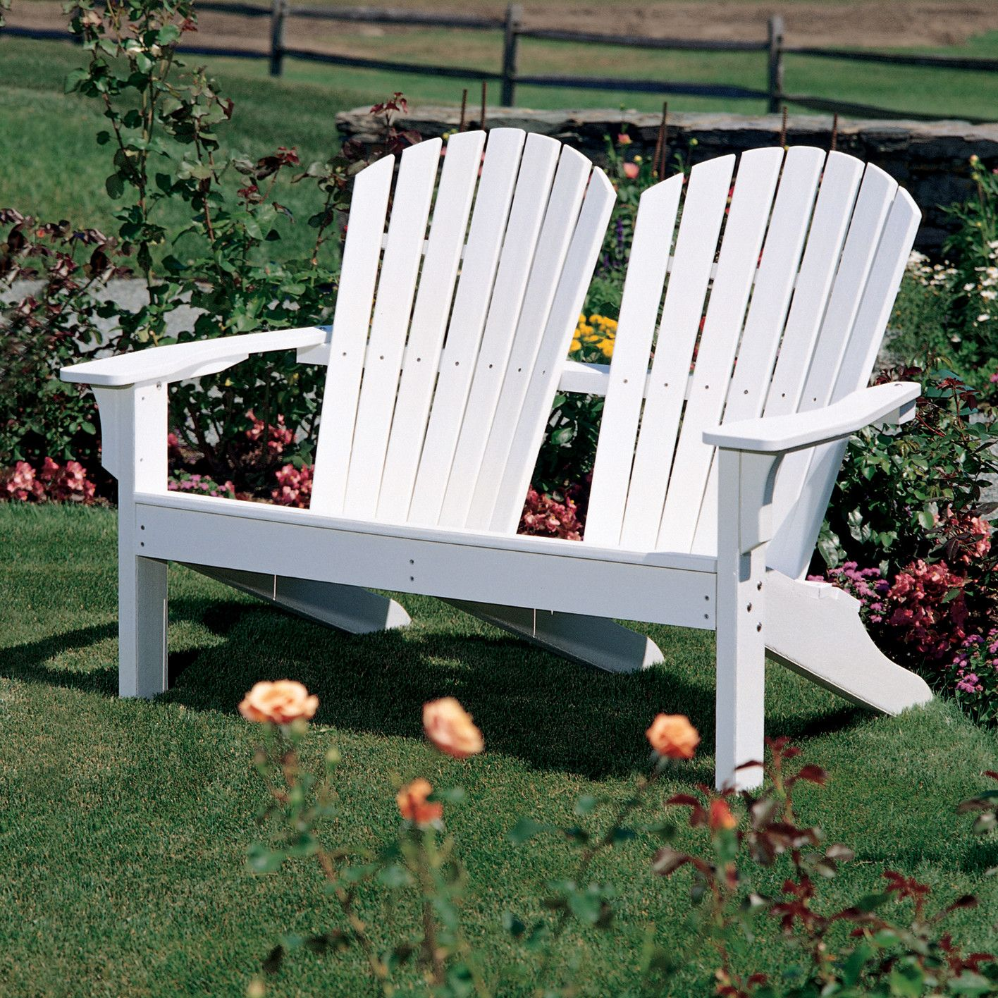 Adirondack shell back garden bench products pinterest products