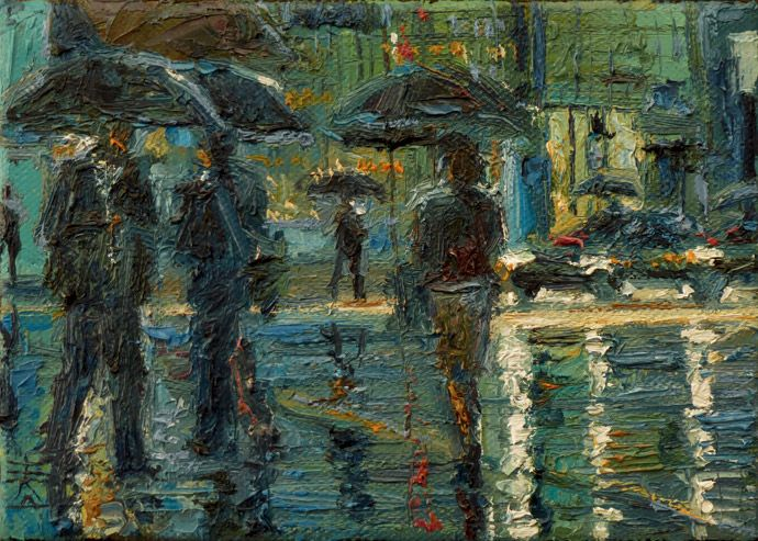 'Crossing in the Rain' by DusanMalobabic.deviantart.com on @deviantART