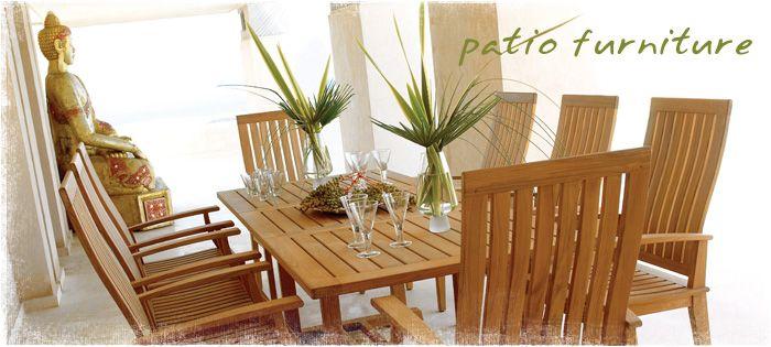 Home   Teak Patio Furniture, Outdoor Furniture, Asian Furniture For Washington  DC   Abaca Imports