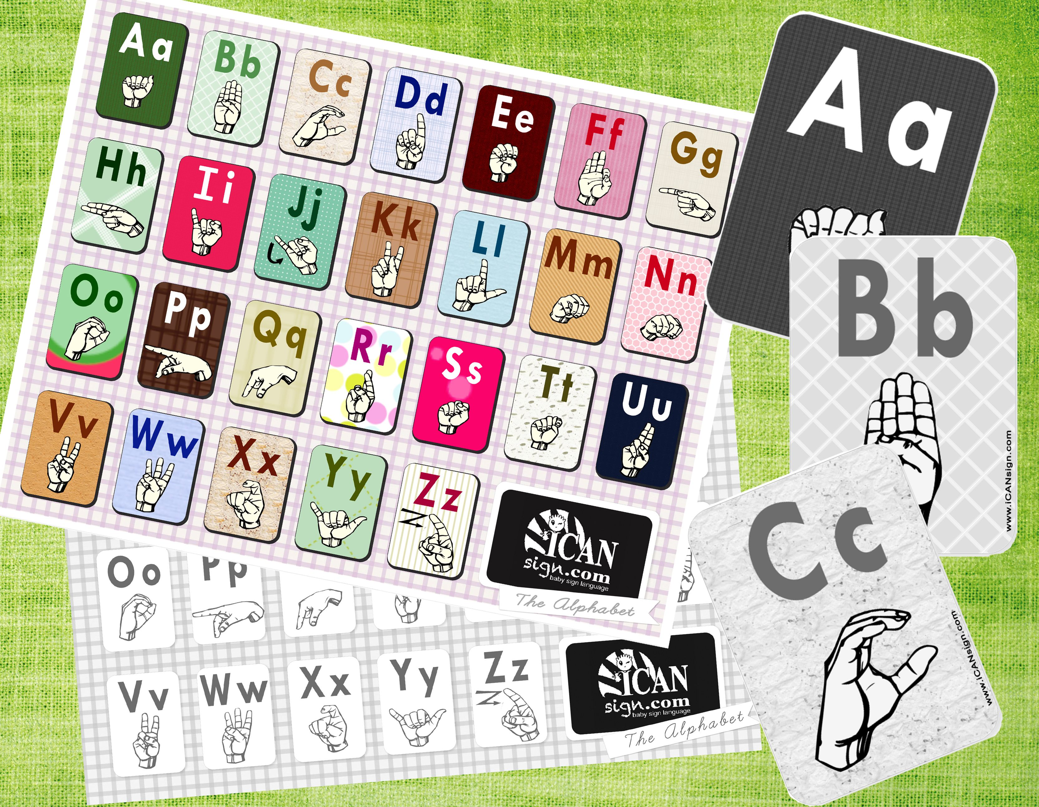 Asl Alphabet Chart And Asl Alphabet Flashcards The Kids Can Look Can The Chart And Spell Each