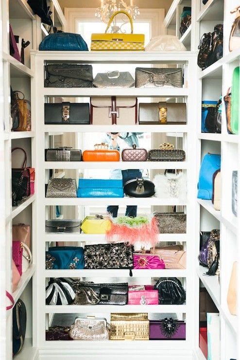 The Coveteur Closets Handbag Closet Bag Shelves For Bags Handbags Mirrored Backsplash With Walls