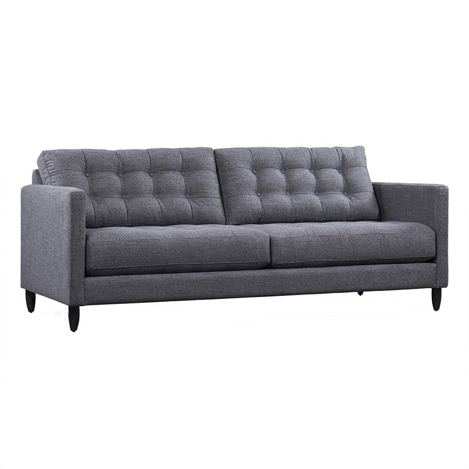 JAMES GREY FABRIC SOFA   Sofas   Seating   Living   HD Buttercup Online U2013 No