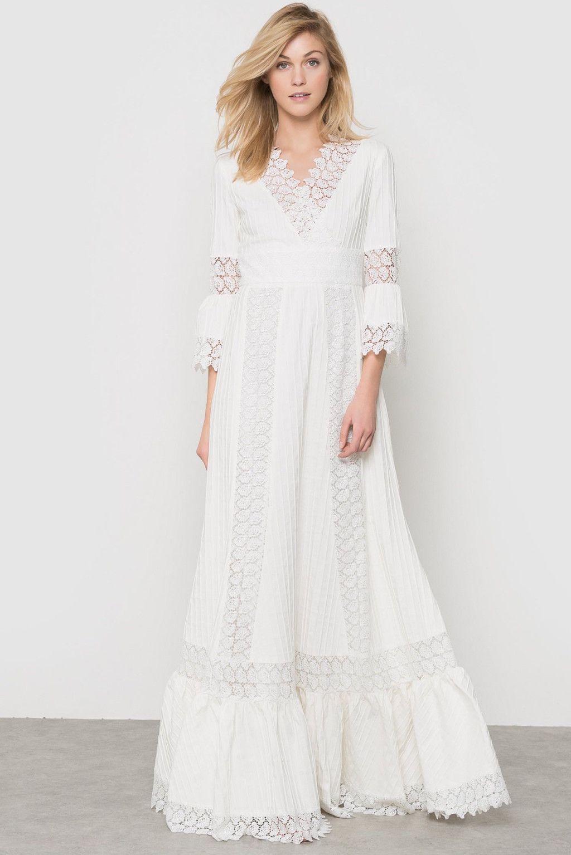 Vestidos blancos en guipur