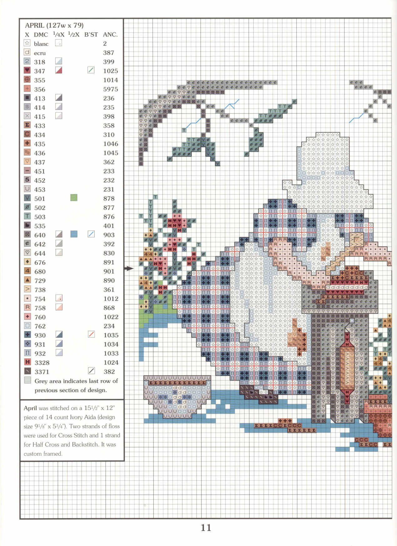 167 (35) | 십자수 | Pinterest | Cross stitch, Sunbonnet sue and Stitch