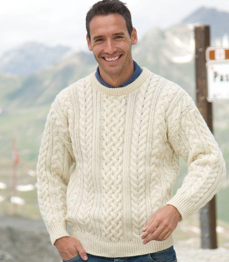mens and womens wool aran sweater   Aran sweater, Aran ...