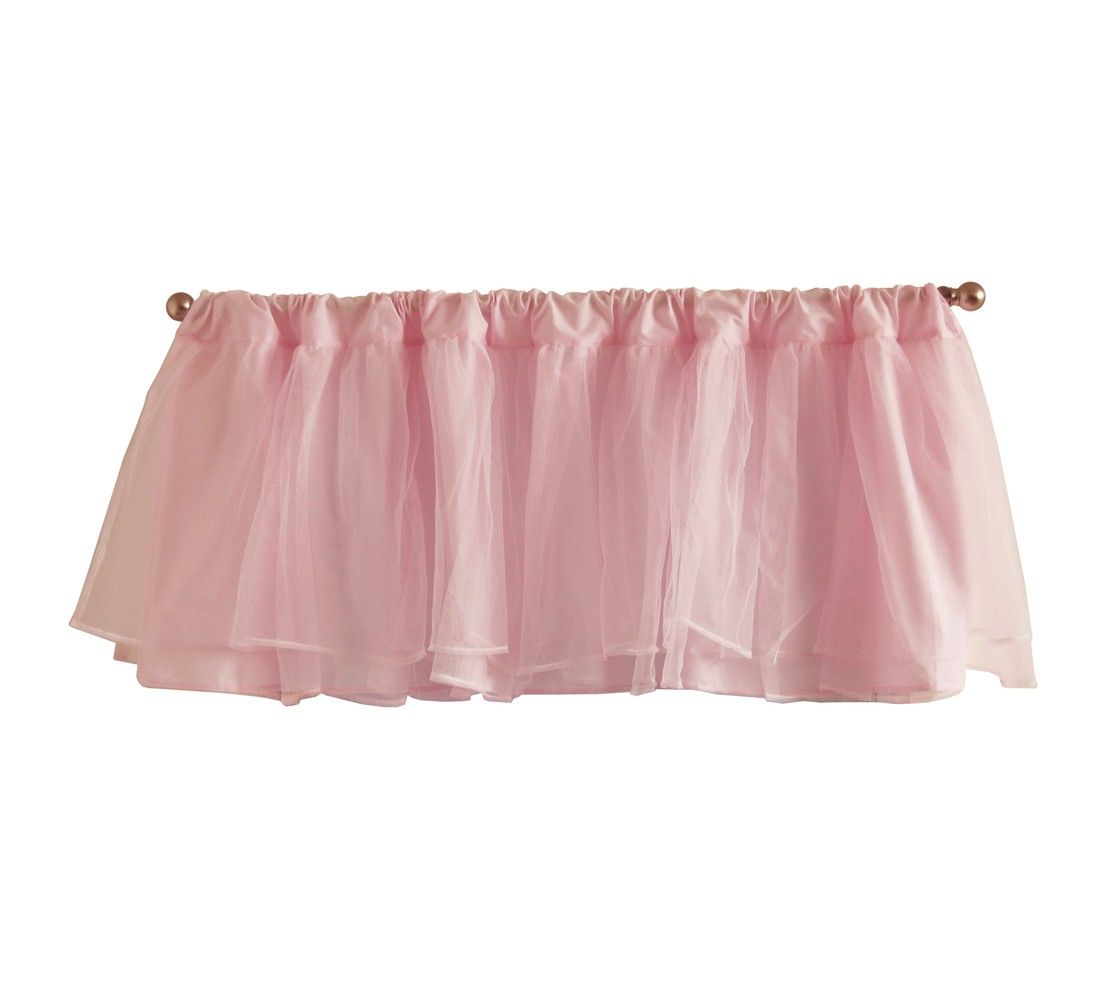 Nursery window ideas  tadpoles tulle window valance  pink  home sweet home  pinterest