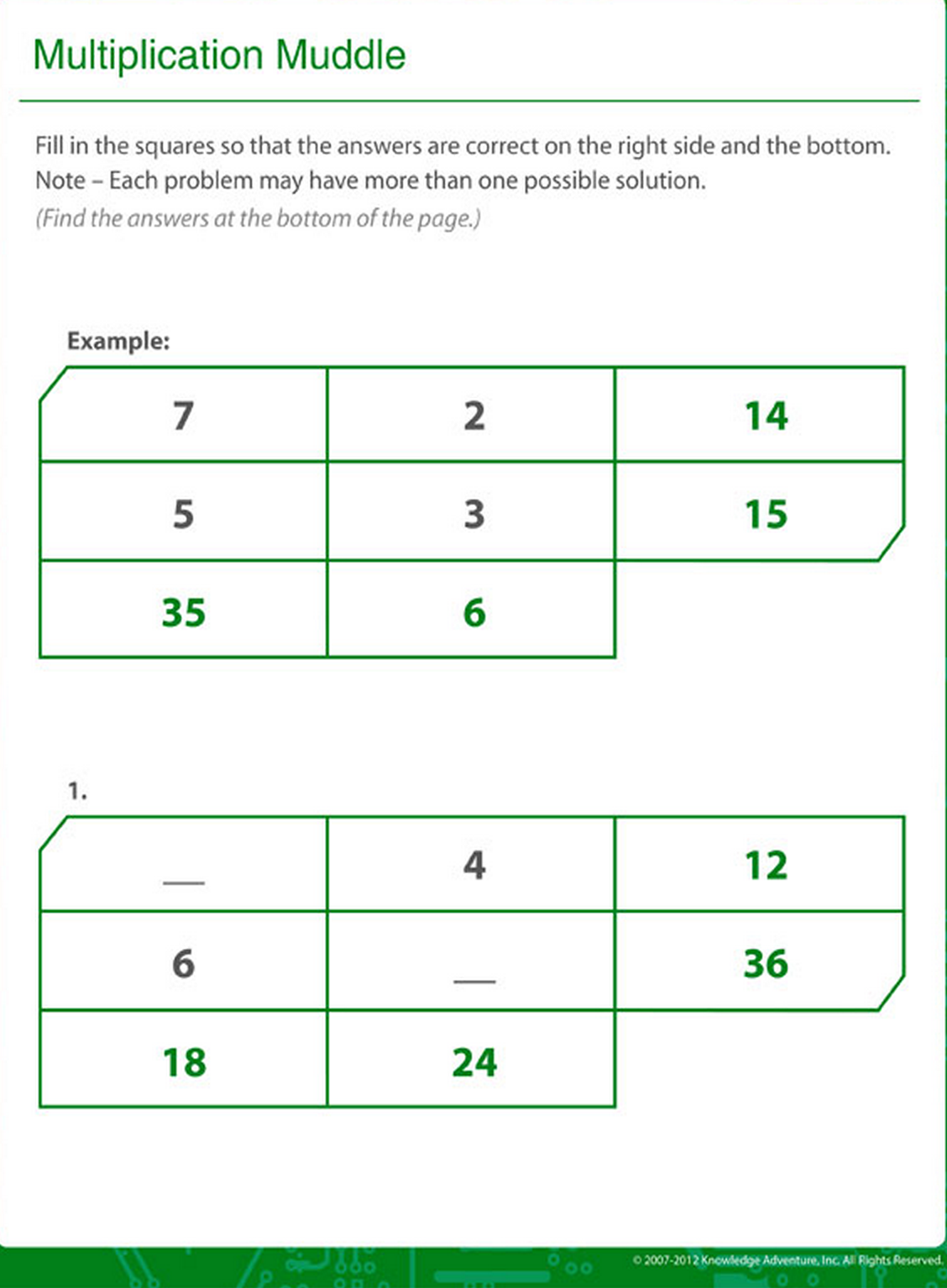 Horizontal And Vertical Multiplication Alignment