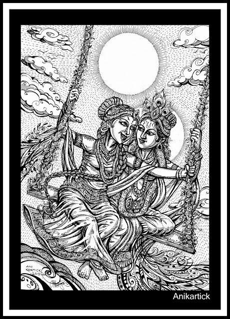 krishna art lord krishna drawing artist pen drawings chennai art sketches ink pen drawings