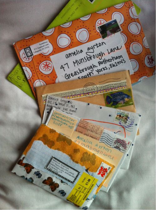 mail art,i want to focus on writing snail mail again
