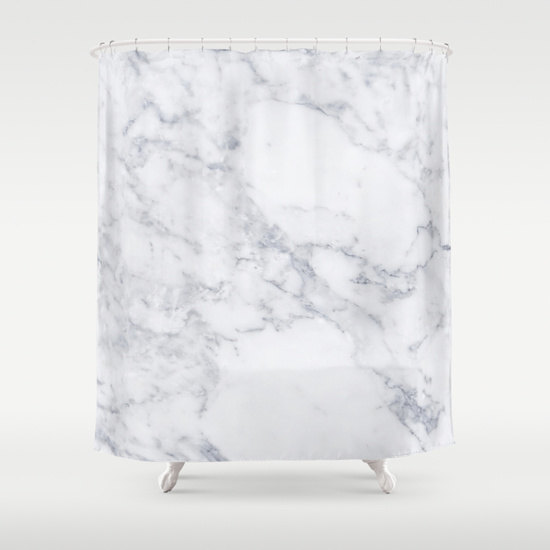 White Marble Shower Curtain Girls Bathroom Shower Curtain White Marble Bathroom Girls Shower Girls Bathroom Shower Curtain Marble Showers Girls Shower Curtain