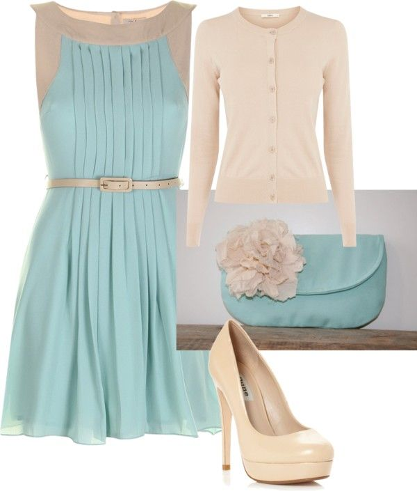 """Spring Dress day to evening"" by kcroson on Polyvore"