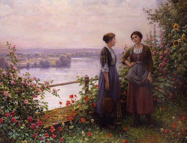 Daniel Ridgway Knight (1839 – 1924) » Sur la terrasse